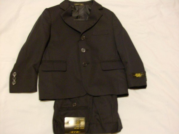 NWT Handsome Bak Black Suit 3T
