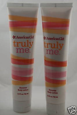 2 Bath and Body Works American Girl Truly Me Shimmer Lotions
