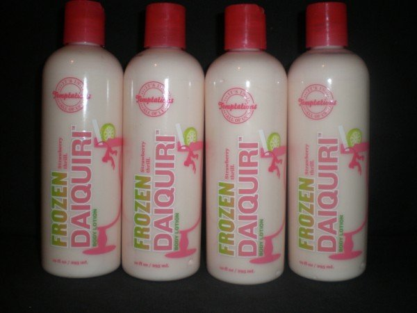 4 Bath and Body Works Temptations Frozen Strawberry Daiquiri Lotions