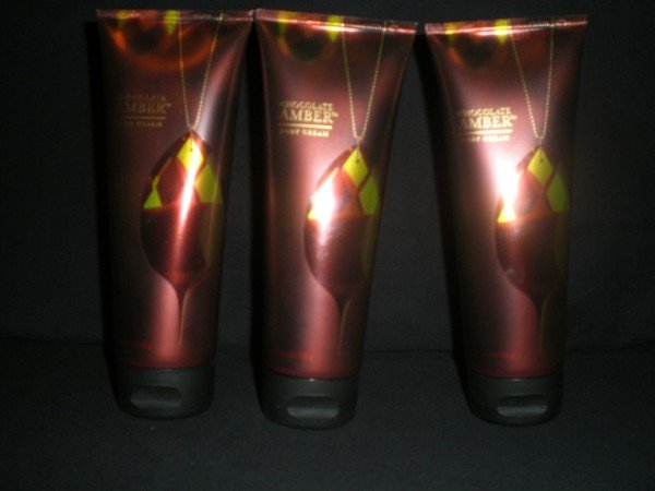 3 Bath and Body Chocolate Amber Body Cream