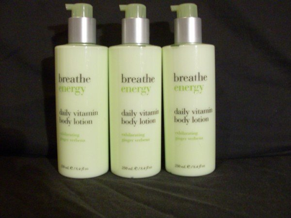 Bath and Body Works Breathe Energy Lotion x3