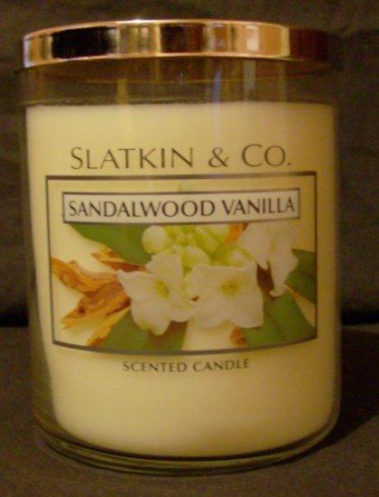 Bath and Body Works Slatkin Large Sandalwood Vanilla Candle