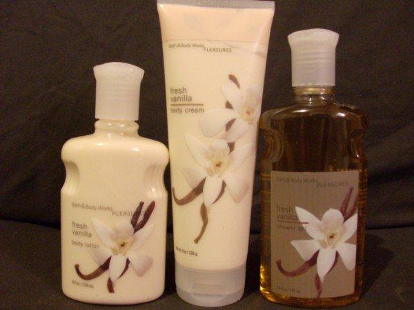 Bath and Body Works Fresh Vanilla Set