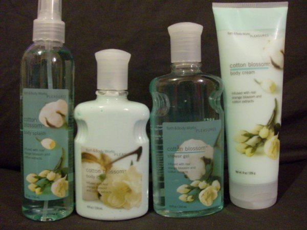 Bath and Body Works Cotton Blossom Set