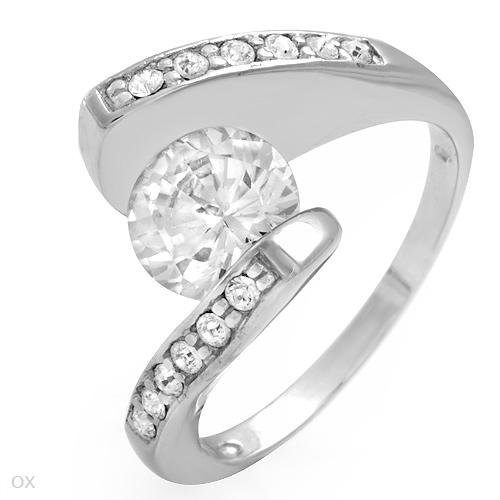 2.95 ctw Cubic Zirconia Brilliant Cut Engagement Ring Size 9