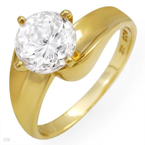 4.00 ctw Cubic Zirconia Brilliant Cut Engagement Ring Size 6