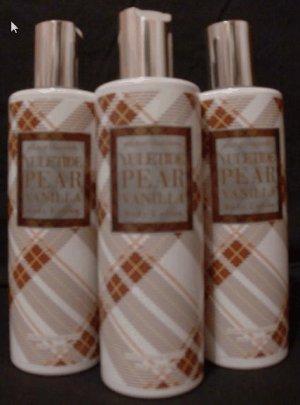 Bath and Body Works Yuletide Pear Vanilla Body Lotion x2
