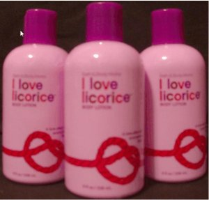 Bath and Body Works I Love Licorice Lotion x3