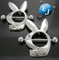 Bunny Rabbit Nipple Rings Body Jewelry New