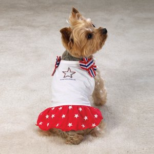 Casual Canine Patriotic Dresses Sz Medium