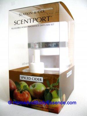 Slatkin Spiced Cider Scentport Diffuser Home Fragrance Oil Plug-In Air Freshener Bath Body Works