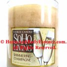 Yankee Candle Shimmering Champagne Scented 14.5 oz Soho Living Home Fragrance Jar Filled Tumbler