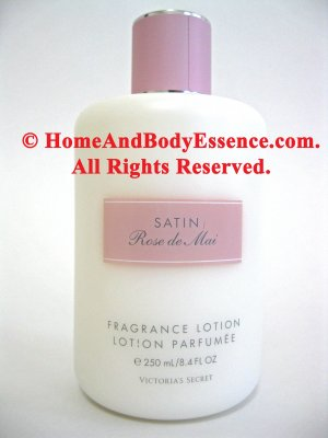 Victoria's Secret Rose de Mai Lotion Satin Body/Moisturizer Perfume Scented Parfums Intimes :  body creams lotions victorias secret skin care rose de mai