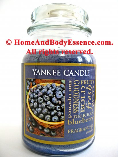 Yankee Candle Blueberry Fragranced Housewarmer 22 oz Candle Scented Filled Jar Blue Berry Fragrance