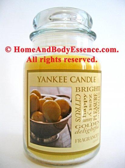 Yankee Candle Lemon Scented Housewarmer Fragranced Filled Jar Home Fragrance Decor