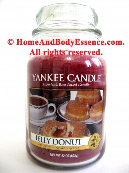 Yankee Candle Jelly Donut Scented 22 oz Housewarmer Doughnut Fragrance Filled Jar Home Fragrance