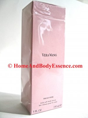 Vera Wang Truly Pink Lotion Body 5 oz/150 mL Truly Soft Perfumed Perfume/Fragranced Scented