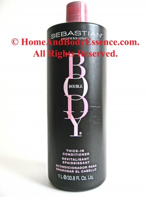Sebastian Body Double Thick-In Conditioner 33.8 oz/1 Liter Professional Unisex for Fine Thin Hair :  sebastian beauty fragrances sebastian professional hair care products sebastian originals hair care