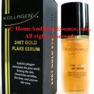 Kollagenx 24KT Gold Eye Face Neck Serum Nano Collagen Anti-Aging Anti-Wrinkle Firming 1.2 oz