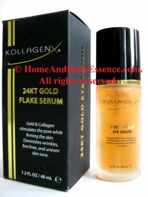 Kollagenx 24KT Gold Eye Face Neck Serum Nano Collagen Anti-Aging Anti-Wrinkle Firming 1.2 oz