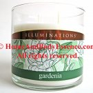 Illuminations Gardenia Fragrance Scented Candle 12 oz Twin Light Soy Fragranced Jar Tumbler