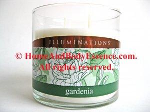 Illuminations Gardenia Fragrance Scented Candle 12 oz Twin Light Soy Fragranced Jar Tumbler