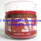 Illuminations Raspberry Acai Scented Candle 12 oz Twin Light Fragrance Fragranced Jar Tumbler