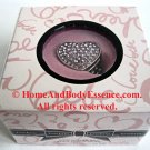 Bebe Solid Perfume Heart Ring Embellished Pink Rhinestones Crystal Sheer Parfum Fragrance Scented