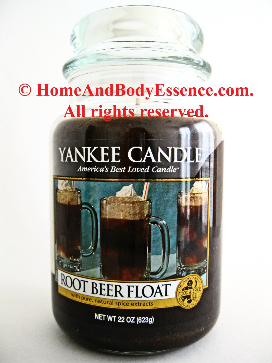 Yankee Candle Root Beer Float Housewarmer 22 oz Large Rootbeer Fragrance Fragranced Scented Jar