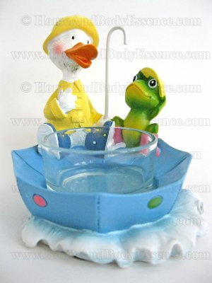 Yankee Candle Rainy Day Tea Light Holder Duck & Frog Friends Classic Home Decor