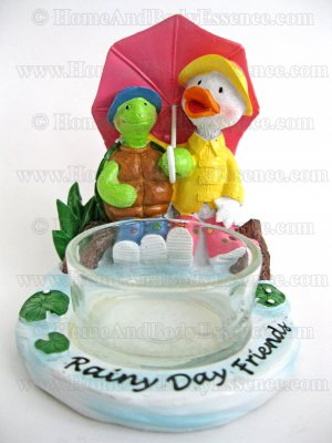 Yankee Candle Duck Turtle Tea Light Holder Rainy Day Friends Tealight Home Fragrances Decor