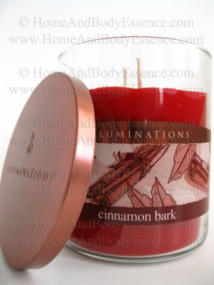 Illuminations Cinnamon Bark Scented Candle 17 oz Fragranced Jar 2 Wicks Tumbler Soy Twin Light