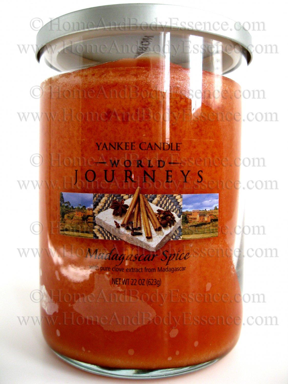 Yankee Candle Madagascar Spice World Journeys Scented Fragranced Jar Tumbler Home Fragrance 22 oz