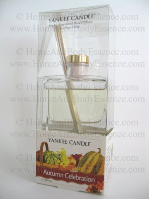 Yankee Candle Autumn Celebration Reed Diffuser Large 3 oz Signature Fragrance Oil Fragranced Scented