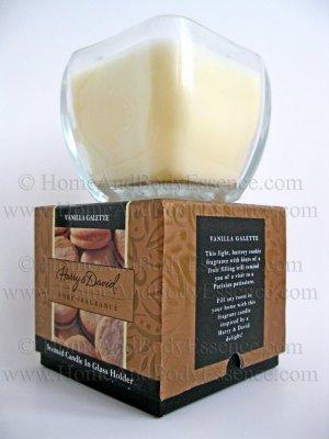 Harry & David Vanilla Galette Candle Scented Fragranced Filled Jar Home Fragrance Decor 8 oz