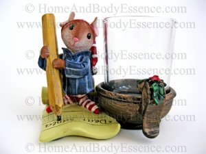 Yankee Candle Mouse Votive Holder Dear Santa Letter Night Before Christmas Home Fragrance Decor