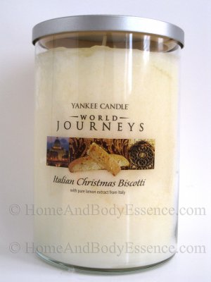 Yankee Candle Italian Christmas Biscotti World Journeys Scented Fragranced Jar Filled Tumbler 20 oz