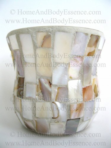 Yankee Candle Mosaic Mother of Pearl Votive Holder Motif Classic Home Decor