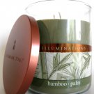 Illuminations Yankee Bamboo Palm Fragrance Scented Filled Jar Twin Light Tumbler Candle 17 oz