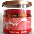 Illuminations Yankee Candle Cranberry Orange Scented Fragranced Jar Tumbler Home Fragrance 12.5 oz