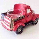 Yankee Candle Americana Red Pickup Truck Car Tea Light Holder Flag Man Cave Patriotic Home Decor