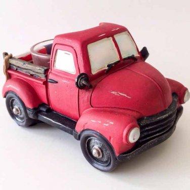 Yankee Candle Red Pickup Truck Patriotic Car Tea Light Holder Americana Home Decor