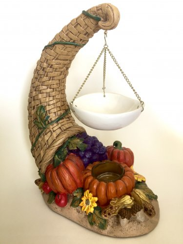 Yankee Candle Cornucopia Wax Melts Warmer Horn Pumpkins Give Thanks Thanksgiving Hanging Tart Burner