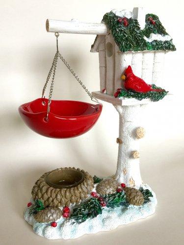 Yankee Candle Winter Pine Cardinal Birdhouse Hanging Tart Wax Melt Warmer Burner Home Decor