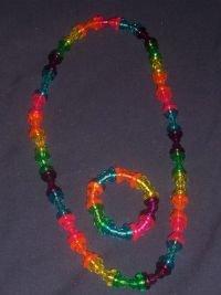 Rainbow nursing necklace set
