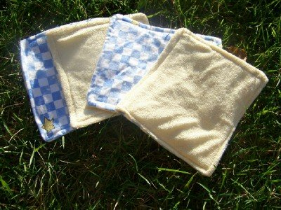 Set of 4 Angel Bottom's Boutique Cloth Baby Wipes/ Wash Clothes