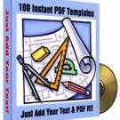 100 Instant PDF Templates