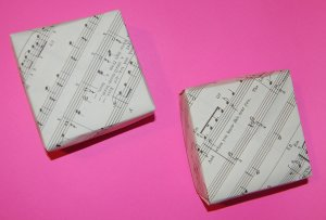 Upcycled Music Gift Boxes