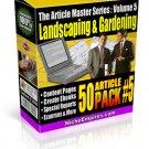 Landscaping & Gardening: 50 PLR Article Pack