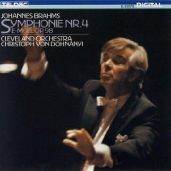 brahms symphony no.4 E minor op.98 - cleveland orchestra & von dohnanyi CD 1987 teldec BMG Dir.